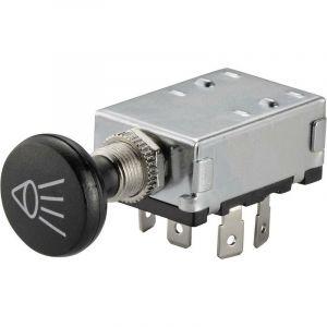 Interrupteur à tirette pour lautomobile TRU COMPONENTS TC-A3-20B-SQ 1587800 12 V/DC 30 A 2 x Off/On/On à accrochage 1 pc(s)