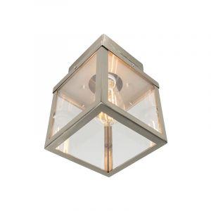 Plafonnier extérieur carré Moderne en acier - Rotterdam Qazqa Moderne Luminaire exterieur