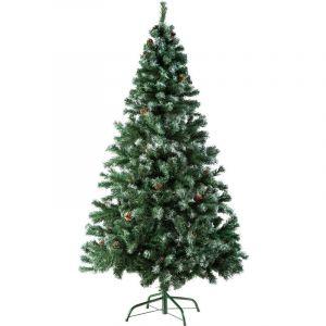 Tectake - Sapin Artificiel de Noël 180 cm 705 Branches Pommes de Pin en PVC Vert