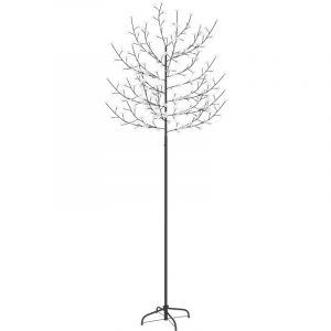 Sapin de Noël 220 LED blanc froid Cerisier en fleurs 220 cm - VIDAXL