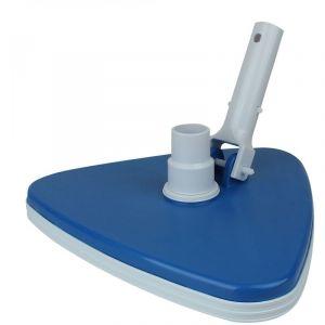 Tête de balai aspirant triangulaire bleu pour manche standard ou télescopique - Linxor
