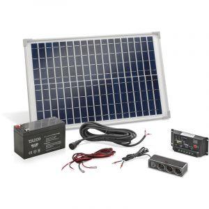 """Esotec Système solaire autonome """"en îlot"""" 20 W avec batterie et multiprise"""