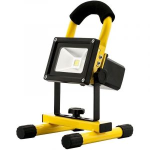 Projecteur Led 10W Rechargeable Portable - 6000K Lumiere Du Jour - AVIDE