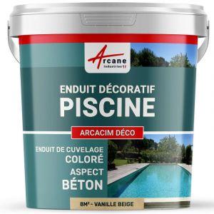 ENDUIT DE CUVELAGE PISCINE FINITION BETON CIRE - ARCACIM DECO - ARCANE INDUSTRIES - Vanille - Beige - kit de 8 m²