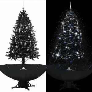 Vidaxl - Arbre de Noël neigeux avec base de parapluie Noir 190 cm PVC