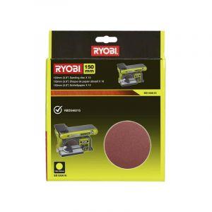 10 disques diamant RYOBI auto agrippants 150 mm - grain 80 SD150A10