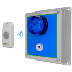 Sonnette flash et sirène réglable sans-fil 800 mètres longue distance - bouton autonome résistant IP56 (PROTECT 800) - ULTRA SECURE