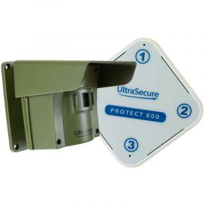 Alarme d'allée 800 mètres sans-fil avec détection de passage extérieur - PROTECT 800 (1 récepteur, 1 détecteur) - ULTRA SECURE