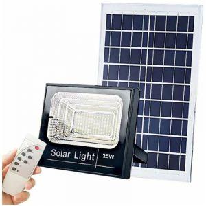 PROJECTEUR LED SOLAIRE 100W AUTOMATIQUE AVEC TELECOMMANDE - Noir - OPTONICA LED