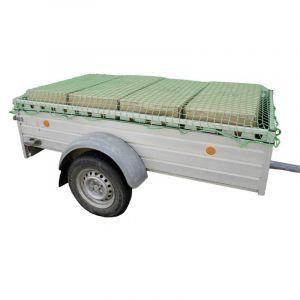 Filet pour remorque (L x l) 3.5 m x 2.5 m HP Autozubehör 25168 avec sangle de serrage en caoutchouc 1 pc(s)