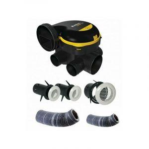 Kit complet gaines et vmc simple flux easyhome auto + grilles de ventilation bip - ALDES