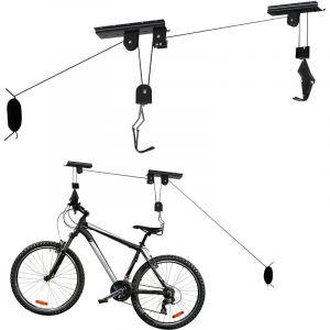 Support Ascenseur Vélo 20 kg Porte- Bicyclette Rangement Garage Stockage Plafond Élévateur - WILTEC