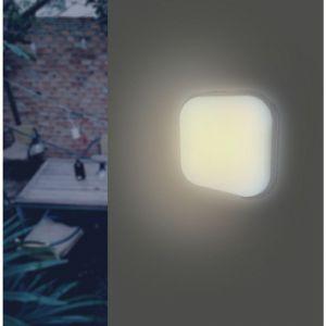 Applique LED Murale 20W Blanche Carré IP65 (Pack de 10) - couleur eclairage : Blanc Froid 6000K - 8000K - SILAMP
