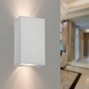 Applique Murale Blanche IP44 LED Double Faisceau 2x5W - Blanc Neutre 4000K - 5500K - SILAMP