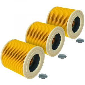 vhbw® 3x Set Filtre à cartouche de rechange comme Kärcher 6.414-552.0 pour Kärcher aspirateur à sec et mouillé, aspirateur multifonctions