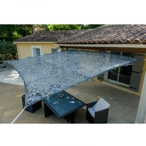 Toile d'ombrage ajourée grise 120 g/m2 dim : 2x3m - WERKAPRO