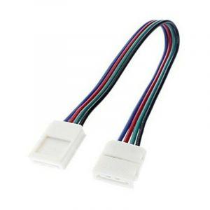 Connecteur d'angle souple sans soudure pour ruban RGB 12V - SYSLED