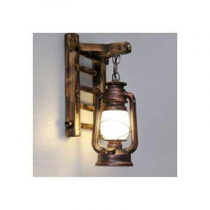 Applique Murale Vintage Lampe Industrielle Fer Metal Bambou Lampe extérieur Mur de feu éclairage - STOEX