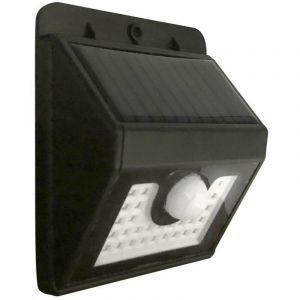 Applique murale solaire avec détecteur de mouvements - 300 lumens Noir - TERRE JARDIN