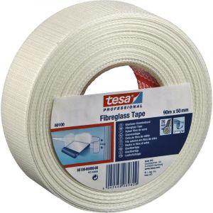 Ruban adhésif toilé tesa 60100-0-0 blanc (L x l) 90 m x 50 mm acrylique 1 rouleau(x)