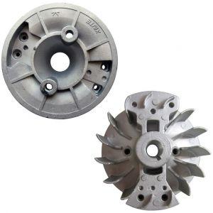 Volant magnétique pour débroussailleuse, multifonction 4 en 1, outil sur perche et tarière - GT GARDEN