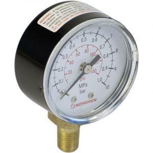 Manomètre Norgren 18-013-027 Raccordement par le dessous 0 à 10 bar Filetage extérieur R1/8 1 pc(s)
