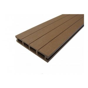 PACK 1 m² lame de terrasse composite Qualita ACCESSOIRES 3600 mm - Coloris - Chocolat, Epaisseur - 25mm, Largeur - 14 cm, Longueur - 360 cm, Surface couverte en m² - 1 - MCCOVER