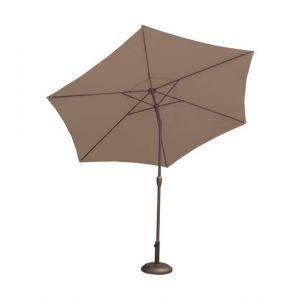 Parasol droit inclinable - D: 270 cm - leds intégrées - OZALIDE