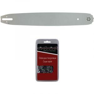 Guide 45 cm (18 pouces) + chaîne 66 maillons - Compatible tronçonneuses STIHL MS 291, 311 et 391 - GT MARKET