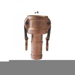 Raccord Camlock femelle - embout cannelé en laiton - Type C - Femelle camlock 1'' 1/2 - embout cannelé 38/40mm - MULTITANKS