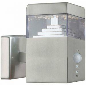 Applique Pyramide Inox 30 LED SMD 7.5W à détecteur | Inox - LUMIHOME