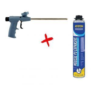 Pack Soudal 36 Mousse polyuréthane expansive 700ml + Pistolet Compact Vis 100982P - SOUDAL FRANCE - AYRTON