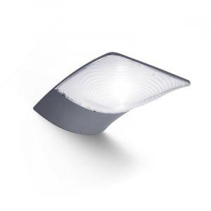 Applique Grise ZERTA, LED Intégrée, 3W, 200 lumens, 4000K, IP44, SOLAIRE, Classe III - LUTEC