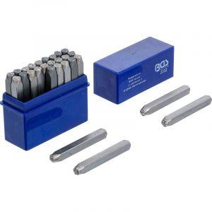 BGS LETTRES A FRAPPER JEU DE 27 LETTRES - choisissezici : 05 mm - BGS TECHNIC