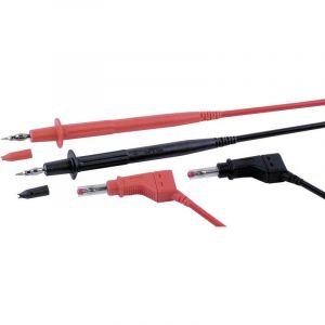 Set de cordons de mesure de sécurité [Banane mâle 4 mm - pointe de test] Stäubli PLL-145/XZGL-410 FLEXI-2V 1,0 100 CM 9410617300 1 m noir, rouge 1