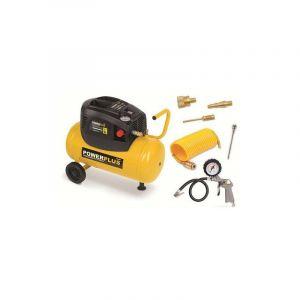 POWERPLUS Compresseur - 24 L - 8 bar - 1,5HP - 1100 W - Avec accessoires - POWERPLUS-C