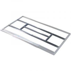 Structure métallique Gardiun pour la pré-installation du plancher des abris de 2,4 m2 - KIS14005 - Gardiun
