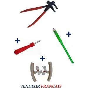 Kit Pince pour Plombs Masses d'Equilibrage + Tire Valve + Démonte Obus + Paire Protège Jante Auto - EQUIPEMENT EXPRESS SICOBA