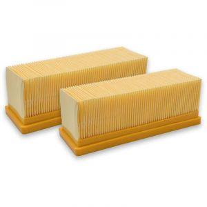 vhbw 2x Filtres plats aspirateur multifonctions Kärcher 2501, 2501 TE, 2601, 2601 plus, 2701, 2701TE, 2801, 2801 plus, 3001, 3001 hot et 6.414-498.0