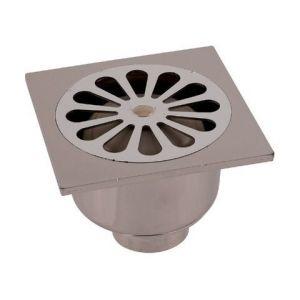 Siphon de sol PVC gris - 140 x 140 mm - Grandsire