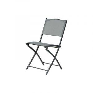 CHAISE DIVINE PLIANTE STUCT.ACIER ANTH (Vendu par 2) - IMAGIN'