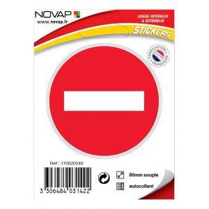 Panneau Sens interdit - Vinyle adhésif Ø80mm - 4031422 - NOVAP