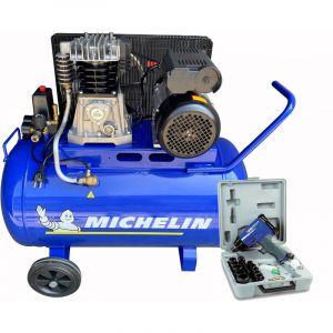 Compresseur Michelin 100 Litres 3 CV avec Coffret Clé à Choc