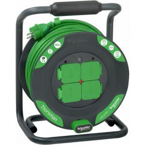 Enrouleur AVANCE 40m - IP44 - 4 Prises - SCHNEIDER ELECTRIC