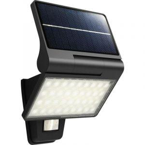 KITE - Applique Solaire LED IP44 - Détection IR - 5W Blanc Naturel 4000K - 350lm - Batterie Lithium-ion 2000mAh - Noir - NORMALUX