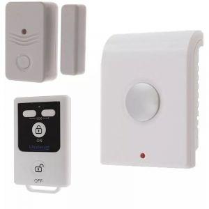 Kit compact autonome sans-fil : Sirène intérieure + détecteur d'ouverture de porte/fenêtre + télécommande (gamme BT) - ULTRA SECURE