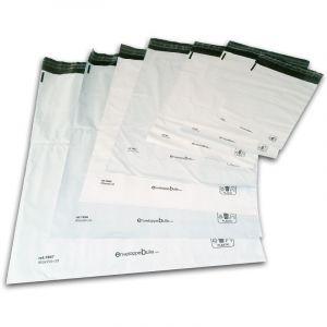 Lot de 1000 Enveloppes plastiques blanches opaques FB01 - 175x255 mm - ENVELOPPEBULLE