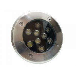 Spot LED Encastrable Extérieur IP65 220V Sol 9W 60° - Blanc Chaud 2300K - 3500K - SILAMP