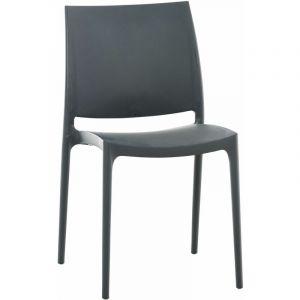 Chaise design Maya gris foncé - CLP
