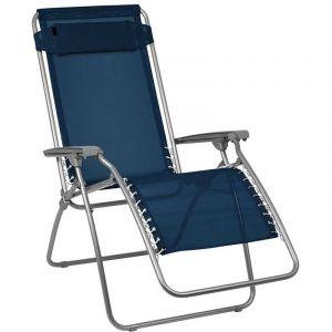 Fauteuil transat pliant avec accoudoirs Bleue 114 cm - OSE
